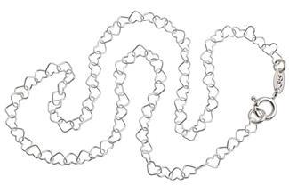 Kinderkette Herzen klein - 925 Silber