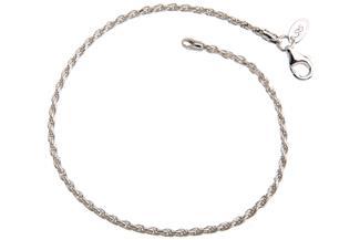 Kordelkette Armband 1,8mm - 925 Silber