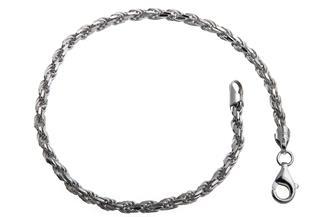 Kordelkette Armband 3mm - 925 Silber