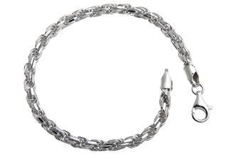 Kordelkette Armband 4,5mm - 925 Silber