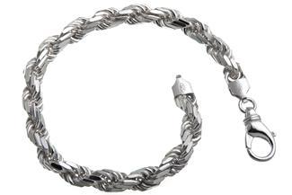 Kordelkette Armband 6,5mm - 925 Silber