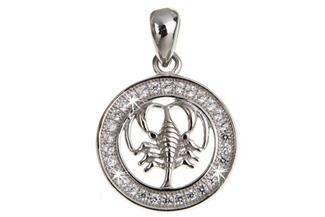 Anhänger Sternzeichen Krebs - 925 Silber