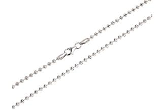 Kugelkette, geschliffen 2,5mm - 925 Silber