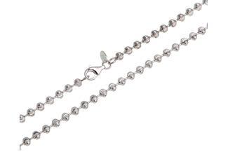 Kugelkette, geschliffen 4mm - 925 Silber