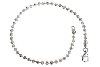Kugelkette Armband, geschliffen 2,5mm - 925 Silber