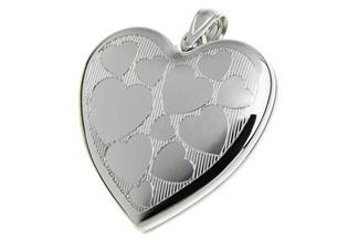 Anhänger Medaillon Herzenl 925 Silber
