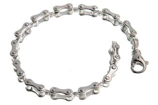 Motorradkette-Armband 8mm - 925 Silber