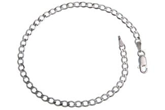 Panzerkette Armband 3mm - 925 Silber