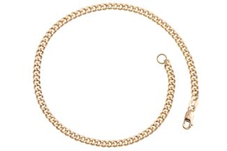 Panzerkette Armband 3mm - echt 585 Gold