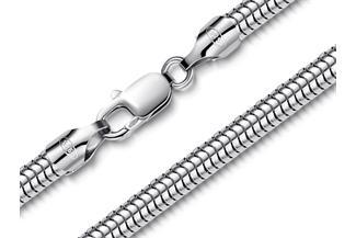 Schlangenkette 5mm - 925 Silber