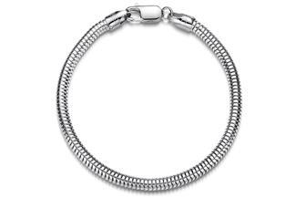 Schlangenkette Armband 4mm - 925 Silber