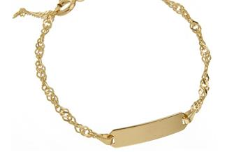 Kinder-Gravurarmband Singapur 2,3mm - 333 Gold