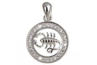 Anhänger Sternzeichen Skorpion - 925 Silber