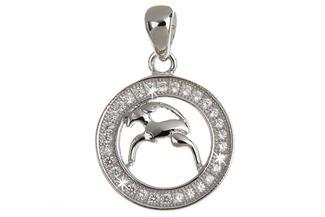 Anhänger Sternzeichen Steinbock - 925 Silber