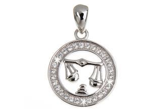 Anhänger Sternzeichen Waage - 925 Silber