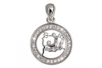 Anhänger Sternzeichen Wassermann - 925 Silber