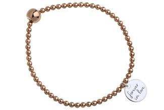 Elastic Elements Armband II - 925 Silber, rosé