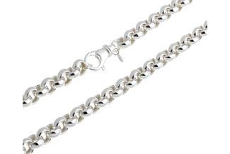 Runde Erbskette 10mm - 925 Silber