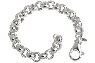 Rundes Erbskette Armband 10mm - 925 Silber