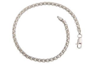 Veneziakette Armband rund 3,7mm - 925 Silber