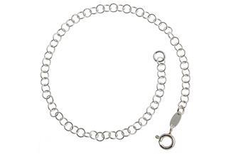 Erbskette Armband 3,5mm - 925 Silber