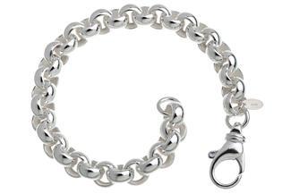 Rundes Erbskette Armband 8,5mm - 925 Silber