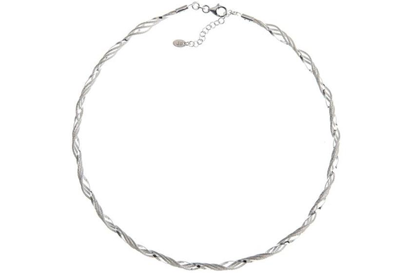 Fashion Omegahalsreifen cirka 4mm - 925 Silber Länge: 40cm - 028ART1