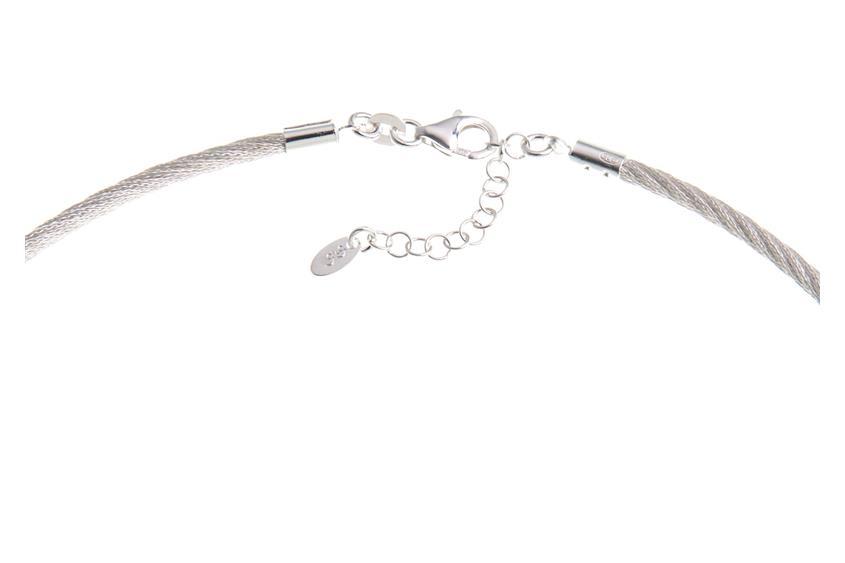 Fashion Omegahalsreifen 3mm - 925 Silber Länge: 40cm - 028ART3