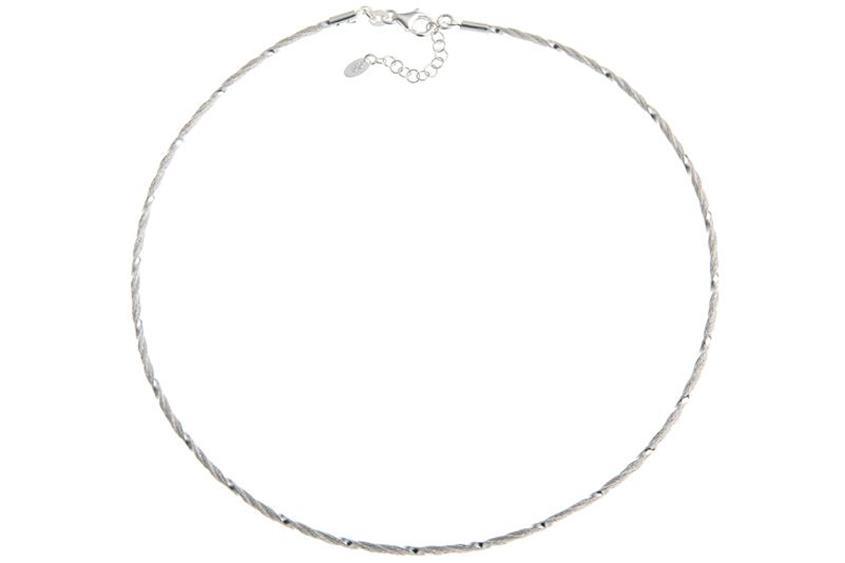 Faschion-Omegahalsreifen 2mm - 925 Silber Länge: 40cm - 028ART6