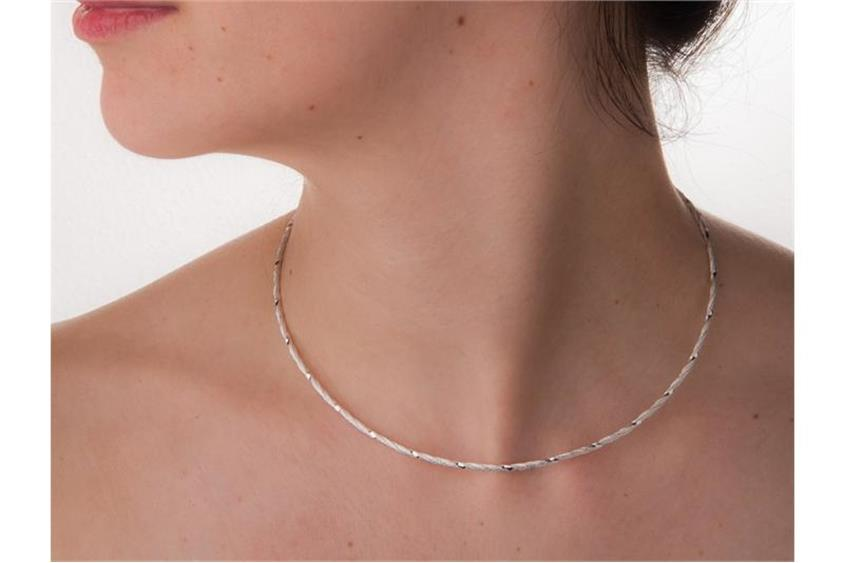 Fashion Omegahalsreifen 2mm - 925 Silber Länge: 40cm - 028ART6