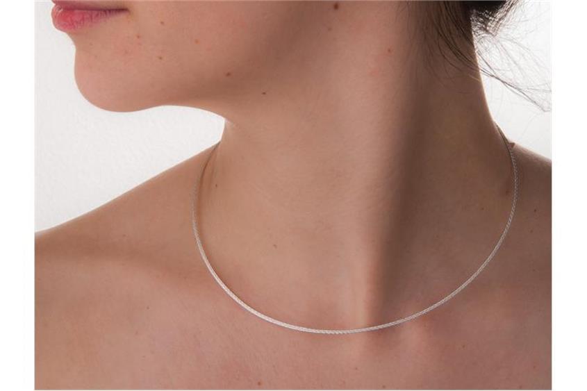 Faschion-Omegahalsreifen 1,5mm - 925 Silber Länge: 40cm - 028ART8