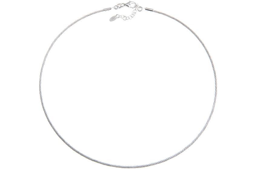 Faschion-Omegahalsreifen 1,7mm - 925 Silber Länge: 40cm - 028NK0187x7