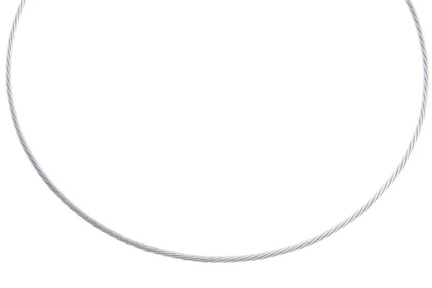 Faschion-Omegahalsreifen 1,9mm - 925 Silber Länge: 40cm - 028NK0217x7