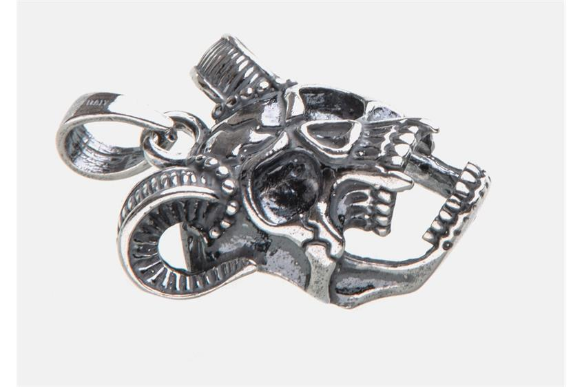 Anhänger Skull, Totenkopf, 072LU593 - 925 Silber