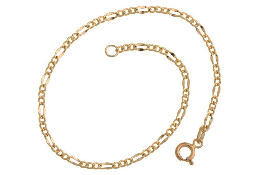 Figarokette Armband 2,4mm - echt 585 Gold