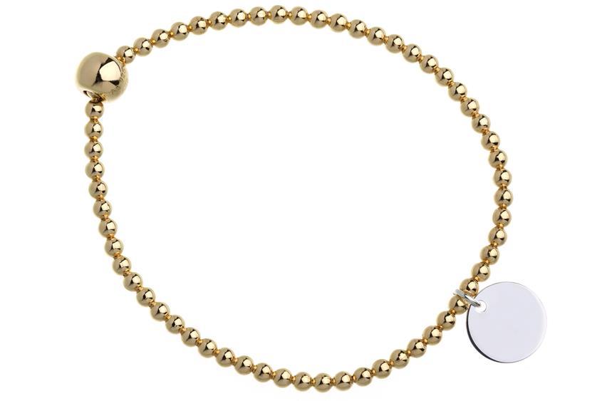 Elastic Elements Armband II - 925 Silber, vergoldet