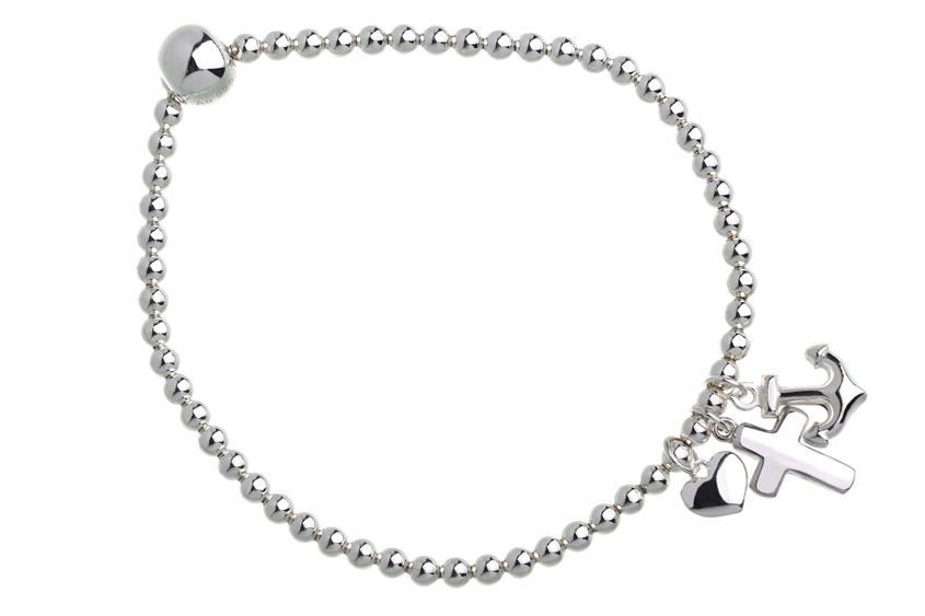 Elastic Elements Armband - 925 Silber Glaube, Liebe, Hoffnung