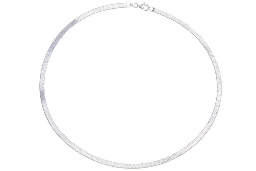 Schlangenkette flach 4,2mm - 925 Silber Länge: 45cm