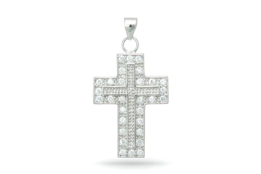 Anhänger Kreuz - 925 Silber 38P1547