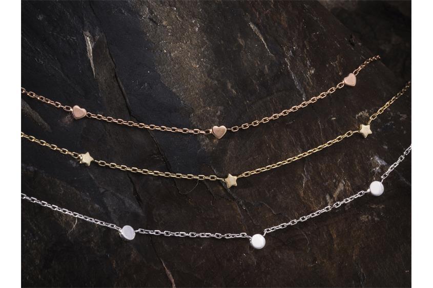 Fashion Line Kette  M17271 - 925 Silber, rosé vergoldet Länge: 42cm