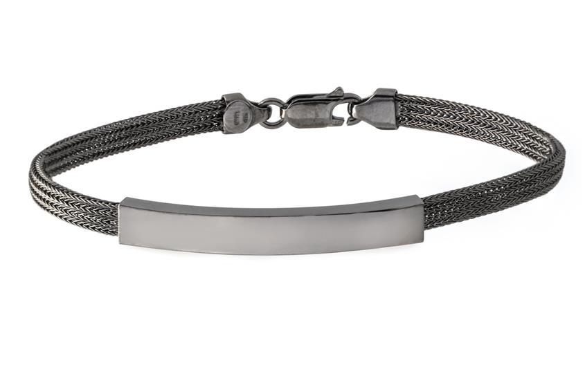 Fashion Armband - 925 Silber, Ruthenium RUT186