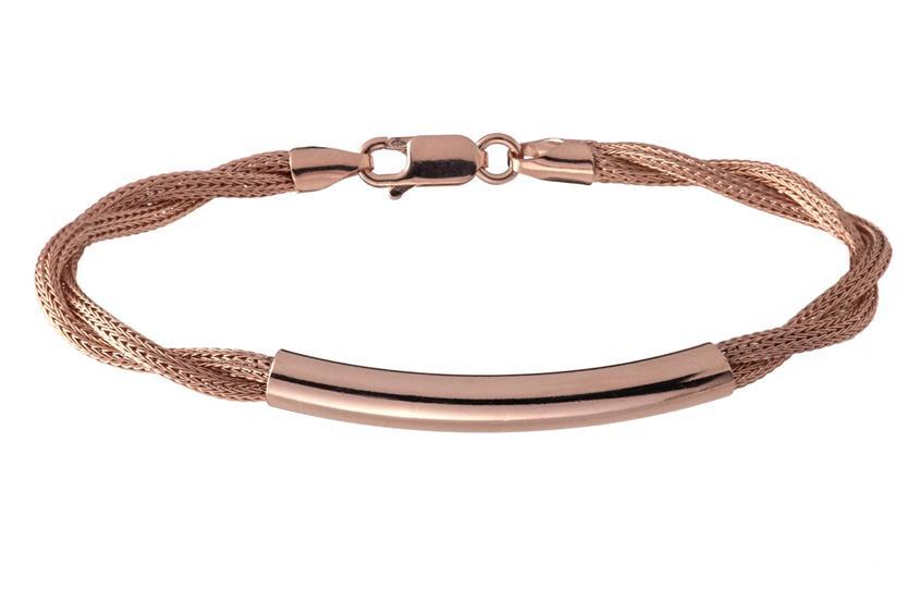 Fashion Armband - 925 Silber, rosé vergoldet ROS187