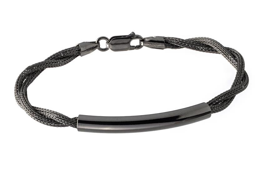 Fashion Armband - 925 Silber, Ruthenium RUT187