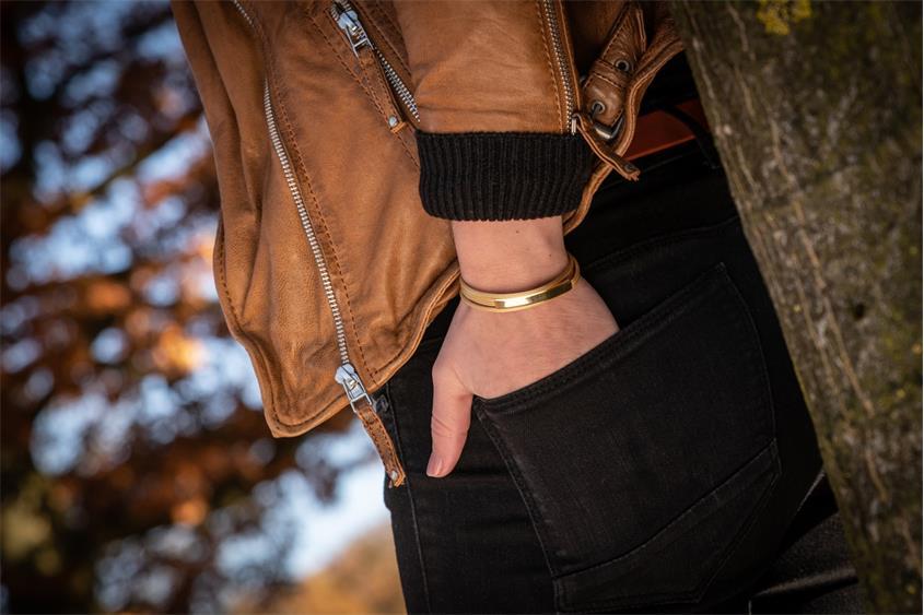 Fashion Armband - 925 Silber, vergoldet GOL188