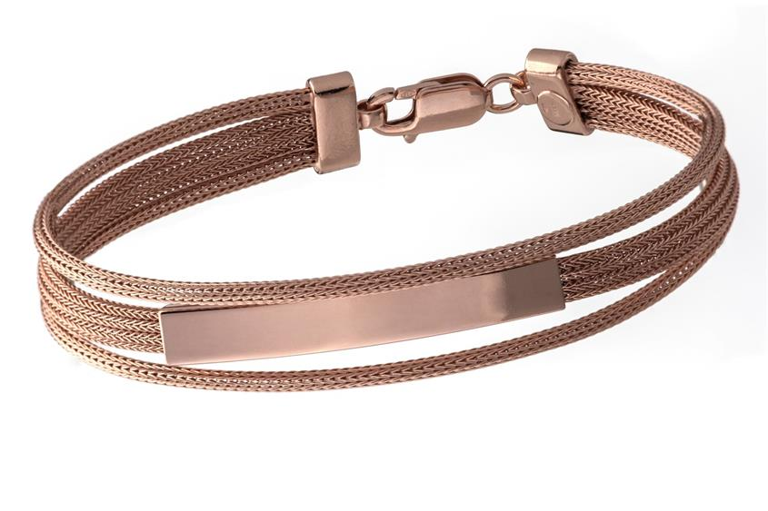 Fashion Armband - 925 Silber, rosé vergoldet ROS188