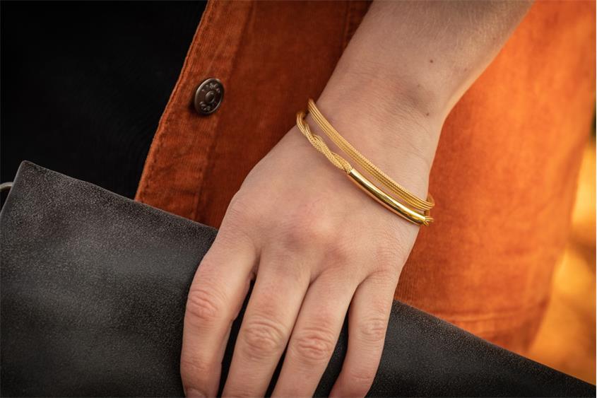 Fashion Armband - 925 Silber, vergoldet GOL189