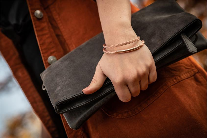 Fashion Armband - 925 Silber, rosé vergoldet ROS189