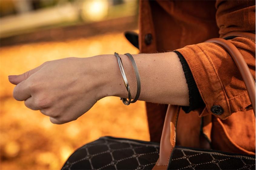 Fashion Armband - 925 Silber, Ruthenium RUT189