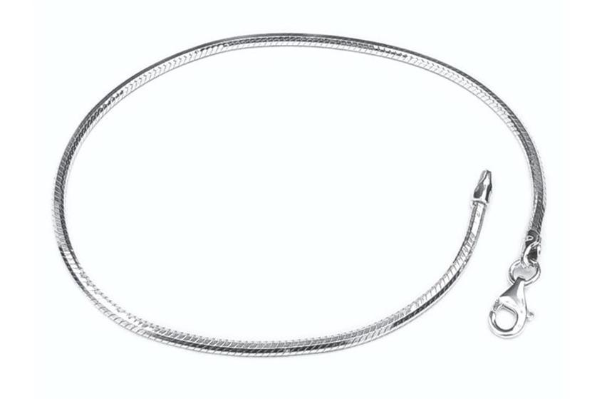 Schlangenkette Armband, achtkant 2mm - 925 Silber