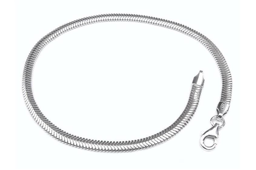 Schlangenkette Armband, oval 3,5mm - 925 Silber